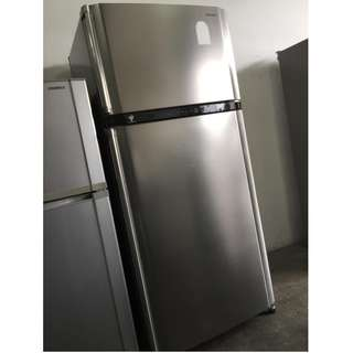 Sharp 2 Doors Big Refrigerator Freezer Fridge Peti Ais Recondition