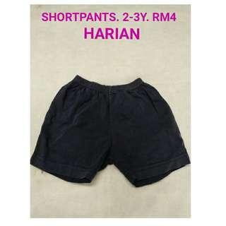 2-3y short pants