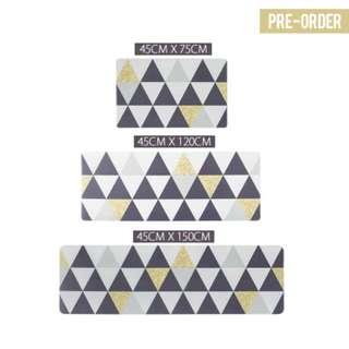 [PO] Triangle Geometric Kitchen Floor Mat