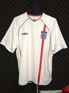 英格蘭🏴 02主場 England home soccer football shirt jersey 波衫 足球服 Umbro Beckham Owen Scholes Gerrard