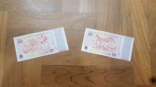 SG50 $10 Notes