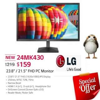 "LG 24MK430 23.8""  FHD PC Monitor. ( Offer Till...15 Aug 2018..Ends )"