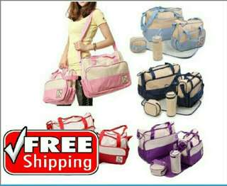 5 in 1 diaper bag free postage