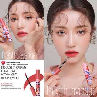 [Instock] 3CE Maison Kitsune Velvet Lip Tint - Rambling Rose