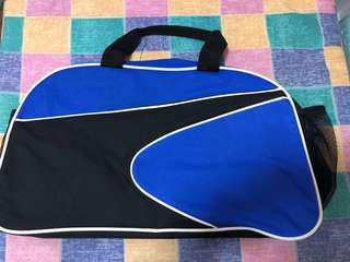 Brand new blue and black sports gym bag