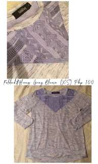 Folded&Hung Gray Blouse