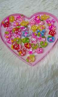 Rings with Heart Case