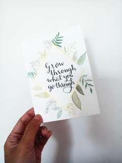 (Charity) Handmade calligraphy customizable card
