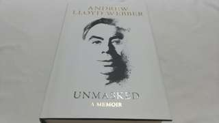 New hardcover copy Unmasked by Andrew Lloyd Webber
