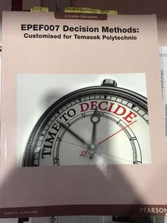 🚚 Decision Methods Textbook(Temasek Polytechnic)
