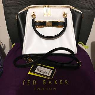 Ted Baker Bandook Slim Bow Small Leather Tote  袋