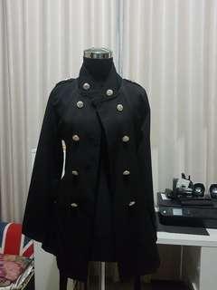 Outer hitam/blazer/cardigan/vest