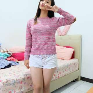 Sweater Pinky Stripes Sweater Wanita Murah