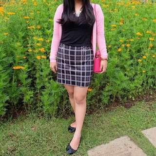 New Look Skirt Black Square Rok Branded Wanita Murah