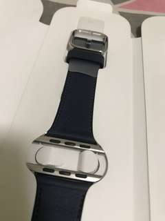 100% Apple Orignial 42mm Apple Watch Midnight Blue Leather Band - 深藍色真皮錶帶