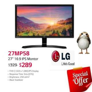 "LG 27MP58 27"" 16:9 IPS Montor.  ( Offer Till...15 Aug 2018..Ends )"