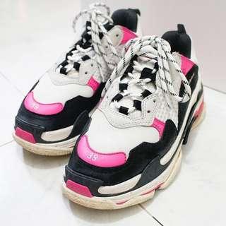 Balenciaga Triple S Sneakers Rose Fluo/Noir/Blanc P00310177
