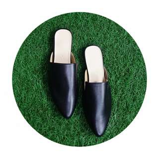 Belle Mules Shoes (Black)