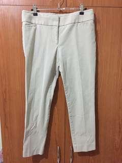 Ann Taylor by LOFT beige stretchy cotton pants