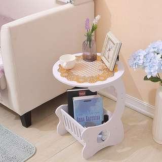 Meja Ngopi Coffee Table Bulat Samping Sisi MEGAHOME