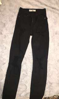 TOPSHOP JAIME HIGH WAISTED DISTRESSED JEANS
