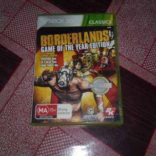 Xbox 360 Game borderlands goty