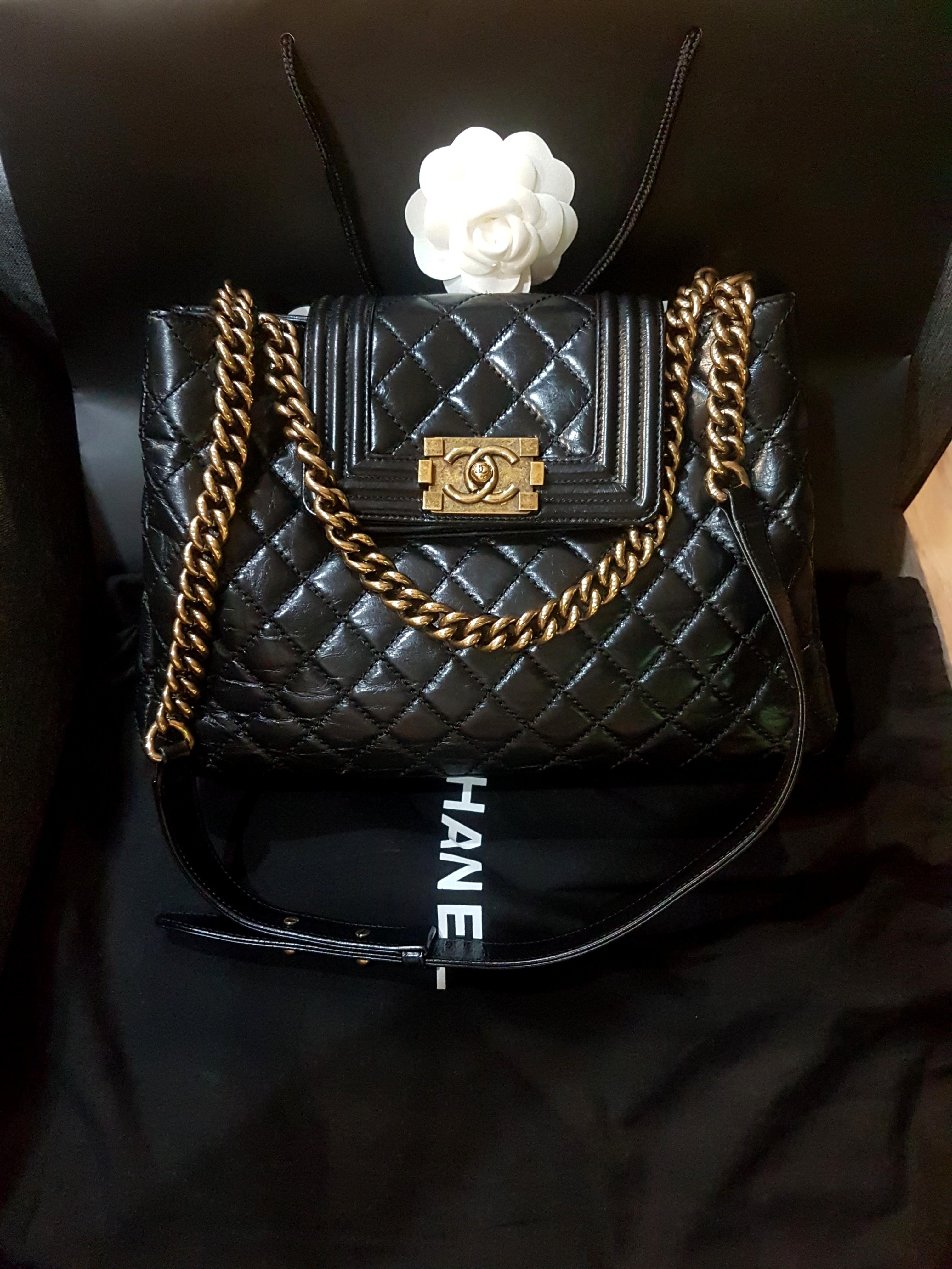 2a5e9c698dcd Full Set LN Chanel Boy Seasonal tote, Luxury, Bags & Wallets ...