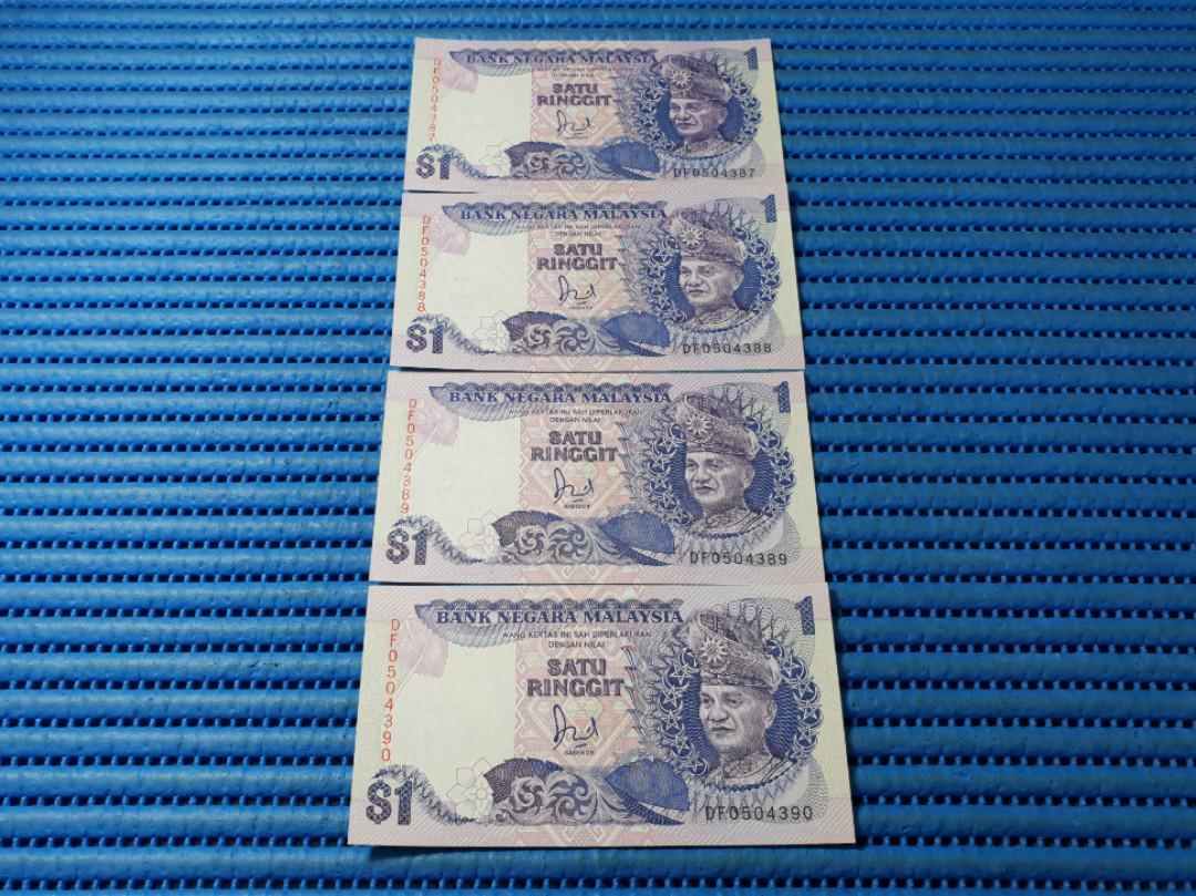 4x Bank Negara Malaysia 1 One Satu
