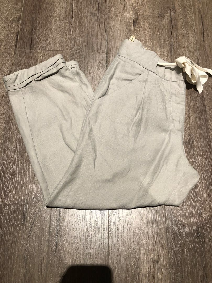 f3df9cc130 Aritzia Wilfred Linen Allant pants with drawstring cropped
