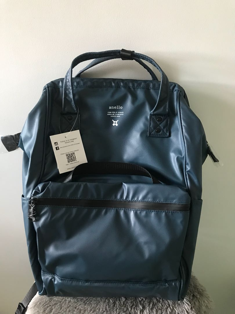 Authentic Anello Waterproof Oversea Edition Backpack Rucksack NAVY OS-B001 822f048b03684