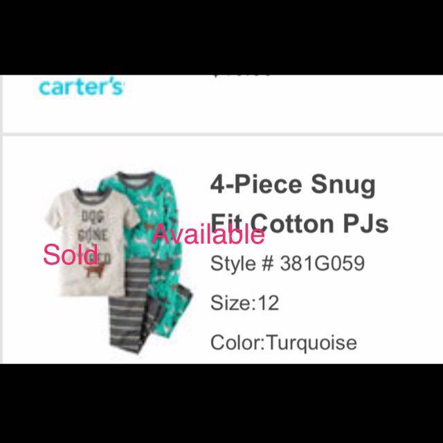 2a0e74534 BN Carter s Snug Fit Pyjamas