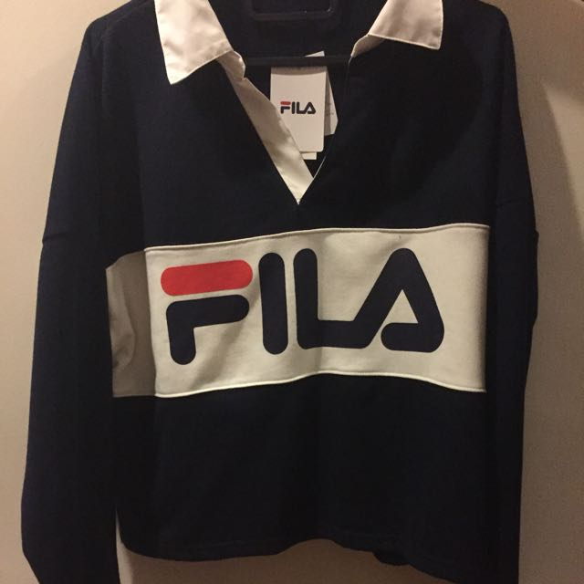 a45d14dae212 Brand new authentic fila sweater, Women's Fashion, Clothes, Tops on ...