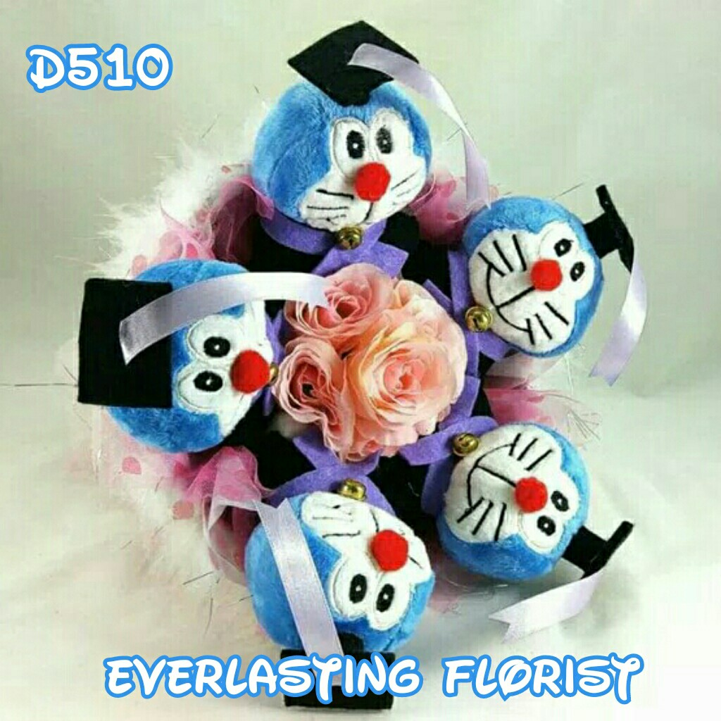 Bucket Doraemon (D510) Buket Bunga Boneka Bouquet Wedding Wisuda Engaged  Proposed Valentine Anniversary Kado Hadiah Unik 3bcdb6dc55