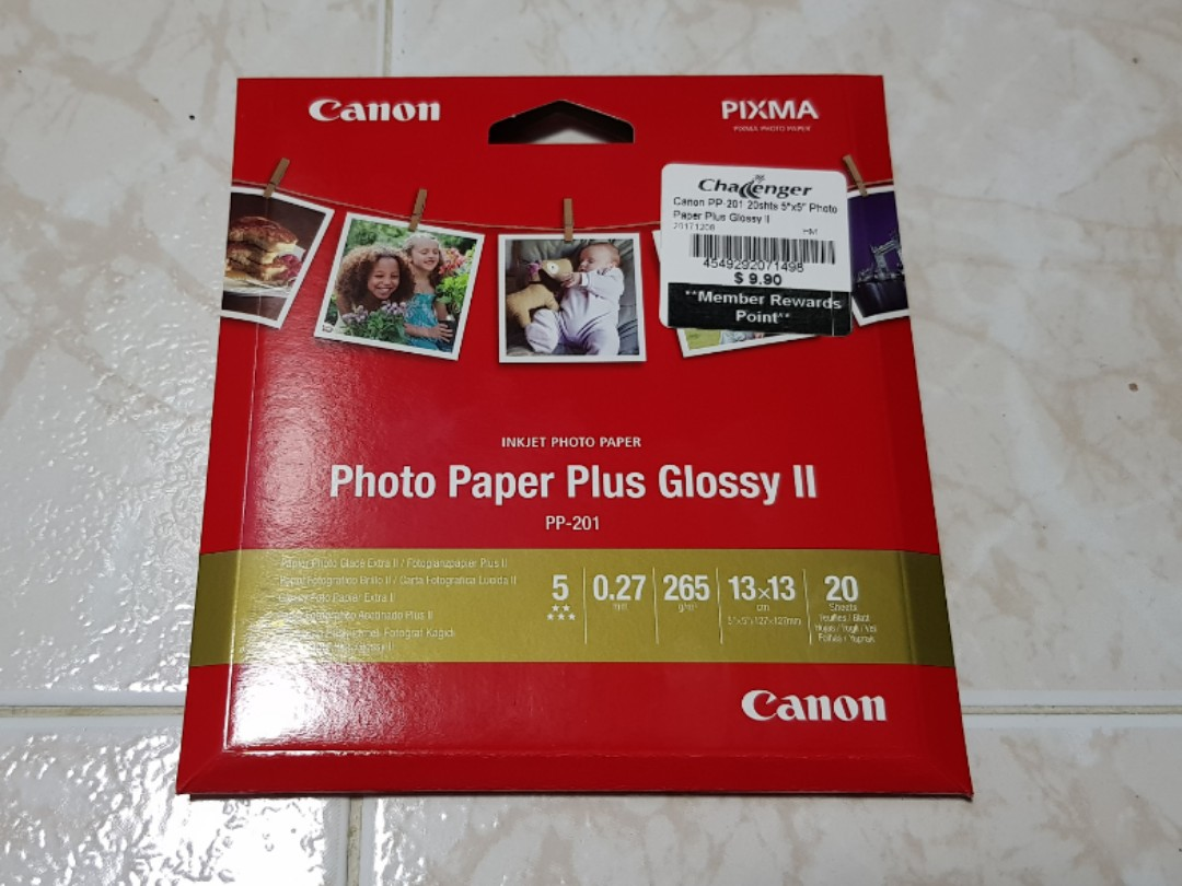 Bn Canon Photo Paper Plus Glossy Ii Design Craft Others On Carousell