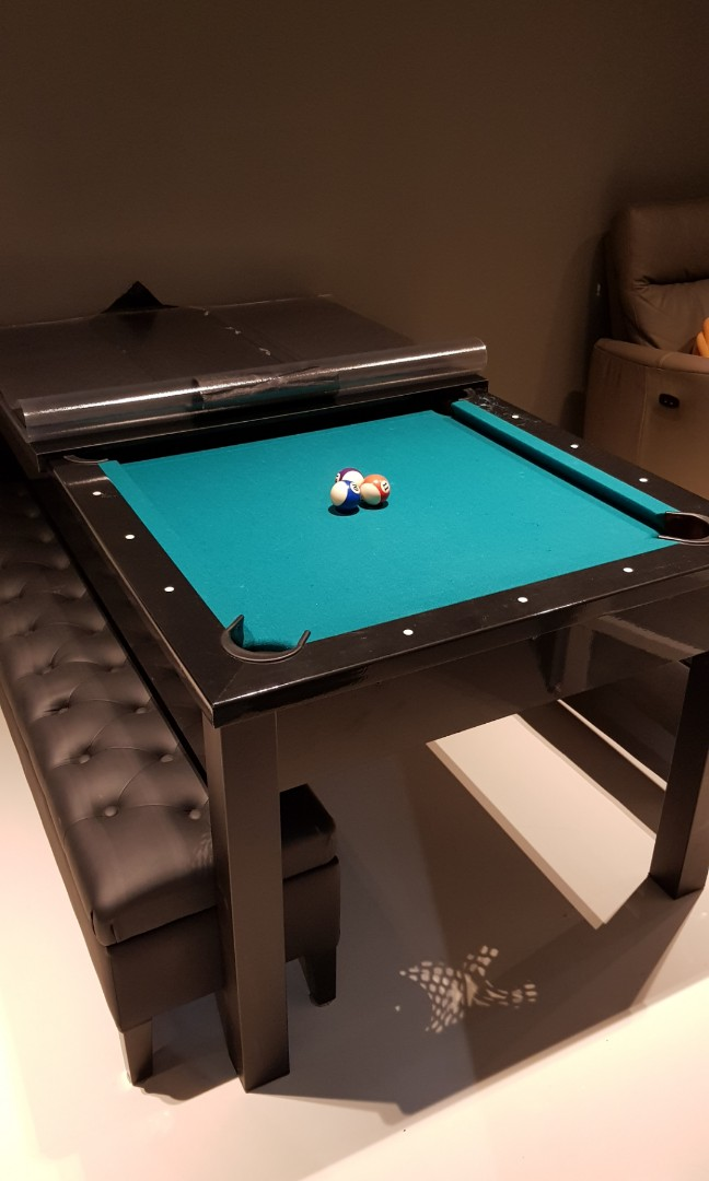 Stupendous Dining Pool Table With 2 Storage Benches Pdpeps Interior Chair Design Pdpepsorg