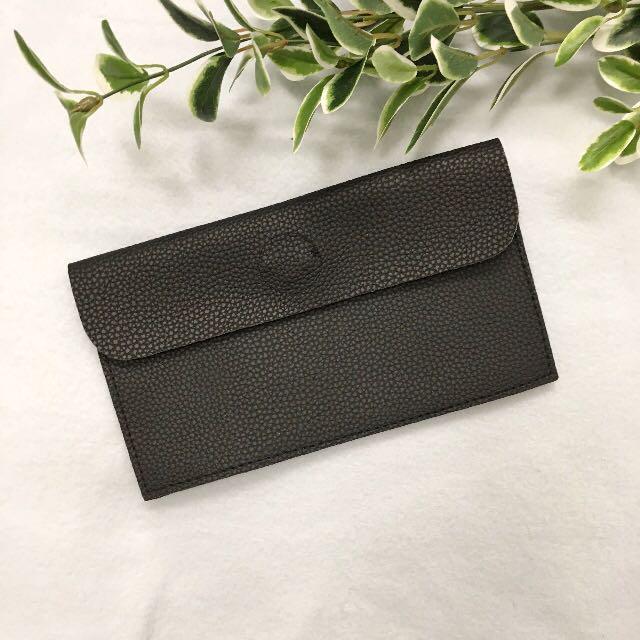 Faux leather purse - black