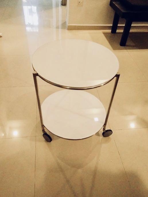 Ikea Glass Side Coffee Table Round, Glass Round Coffee Table Ikea