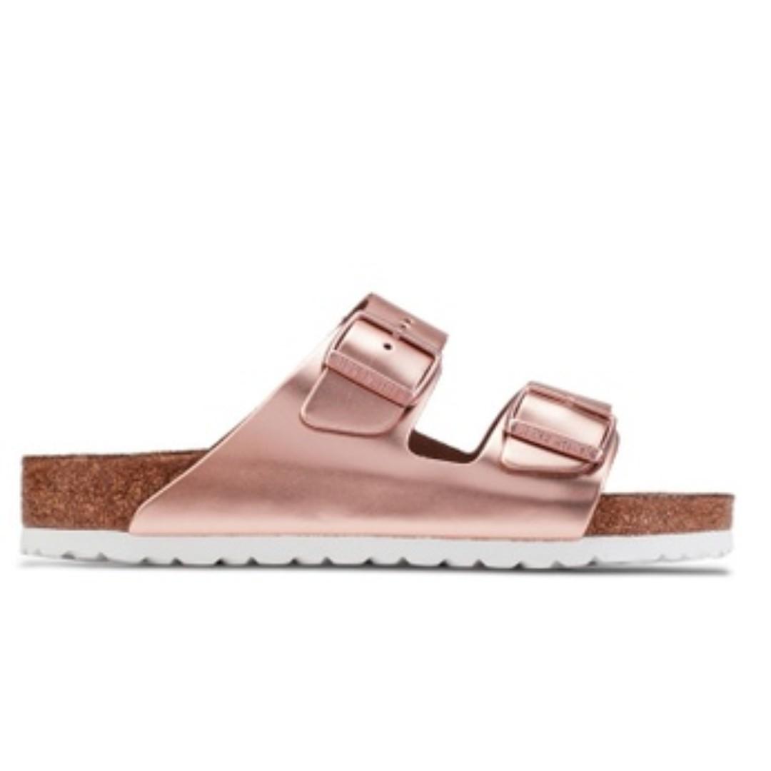 79278bc8eef624 Installment   Birkenstock Arizona Soft Footbed Metallic Sandals ...