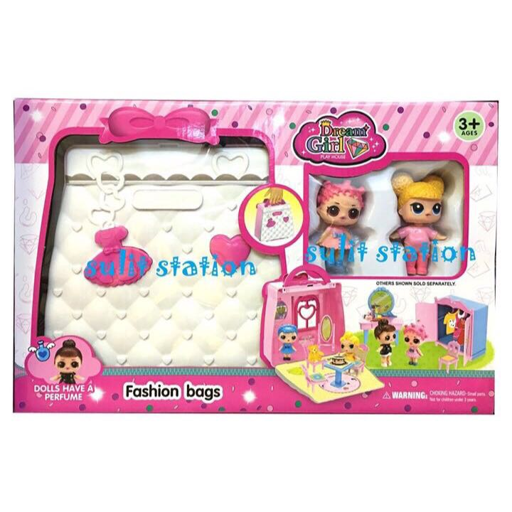 Lol Surprise Girls Doll House In Carry Case Bag Toys Babies Kids
