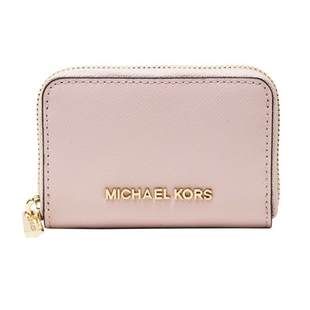 8bd0e57b83e7 Michael Kors Jet Set Travel Zip Around Card Holder/Coin Holder/Mini Wallet  Blossom, Luxury, Bags & Wallets, Wallets on Carousell