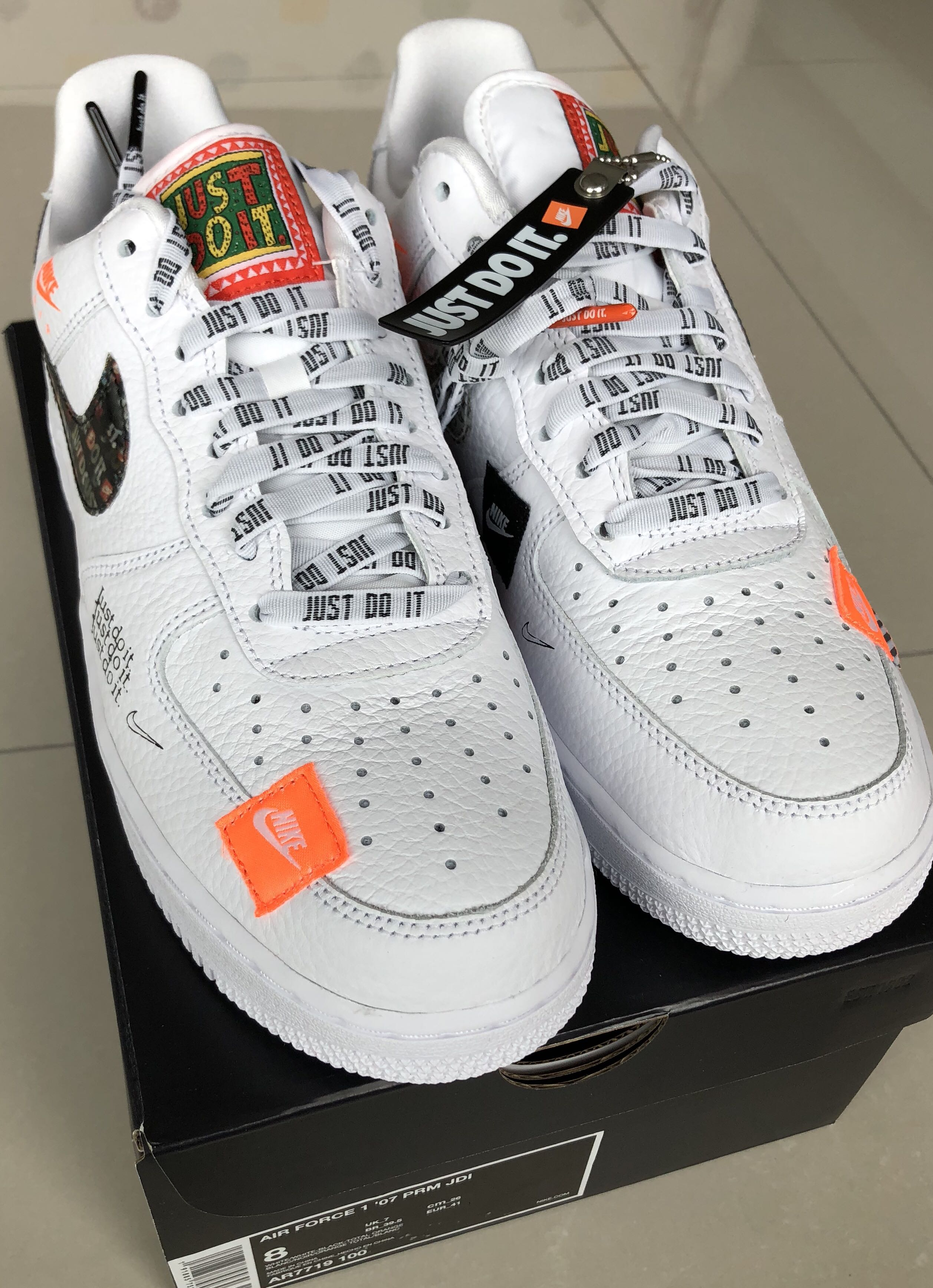 Nike Air Force 1 Just Do It White US 8