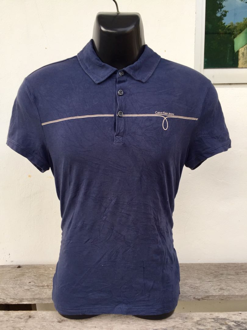 c456f9a2deaf Original Calvin Klein CK Polo T-Shirt, Men's Fashion, Clothes, Tops on  Carousell