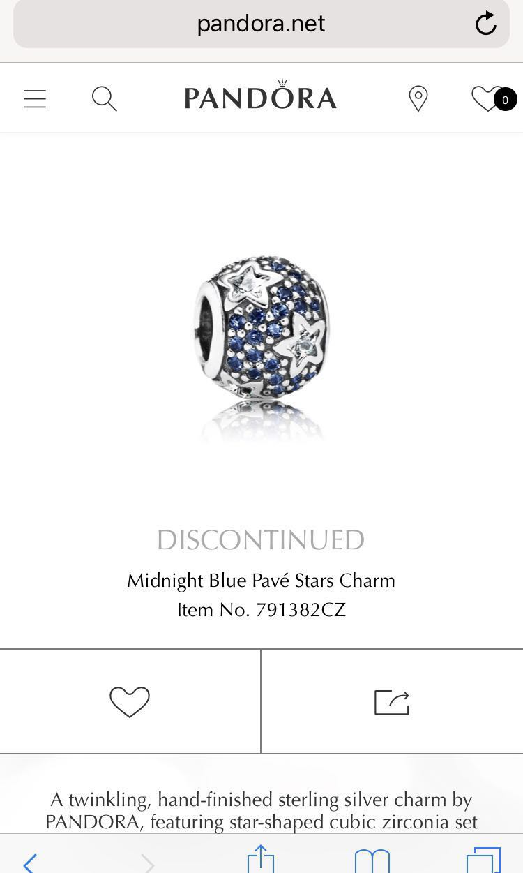 4a528ad26 Pandora Charm (Midnight Blue Pavé Stars Charm), Women's Fashion, Jewellery  on Carousell