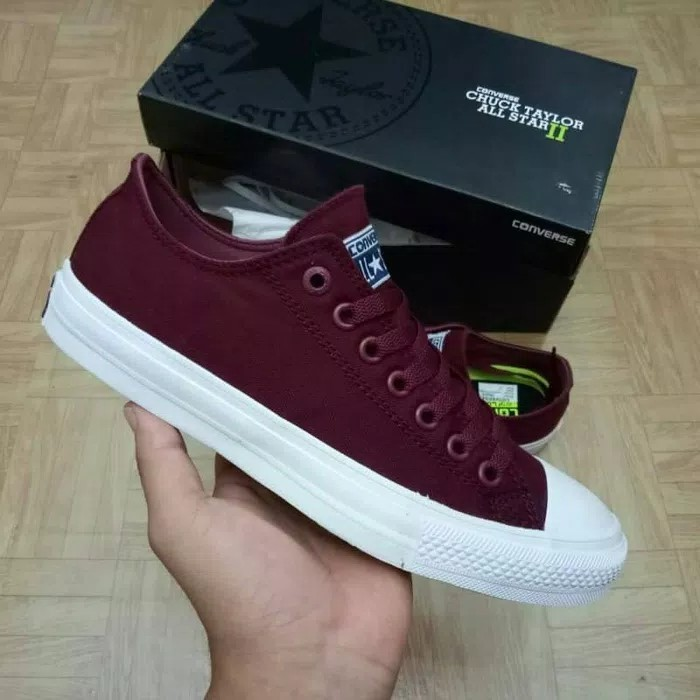 Sepatu Converse Chuck Tayloy II Lunarlon All Star Low Port royal BNIB  ORIGINAL fa86ebcdb4