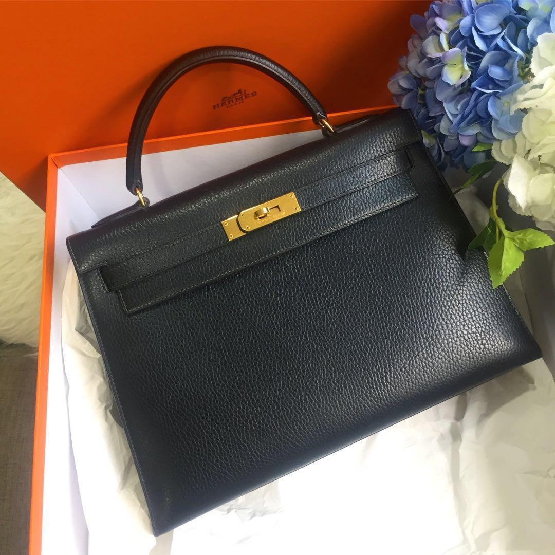a35f9d489dc ❌SOLD❌ Superb Deal! Rare Leather! 🖤 Hermes Vintage Kelly 32 ...