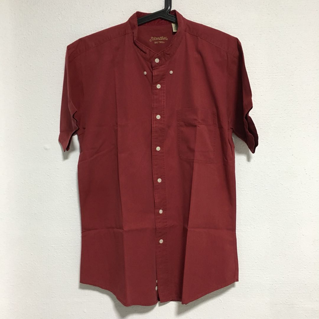 0a439265436 Vintage Red Short Sleeve Button Down Shirt