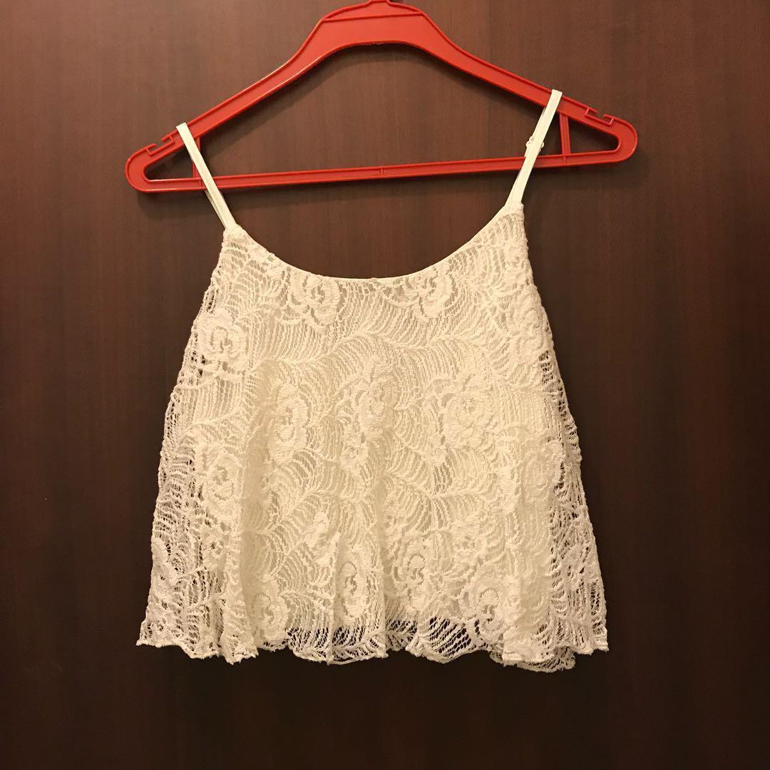 White Lace Top Crochet