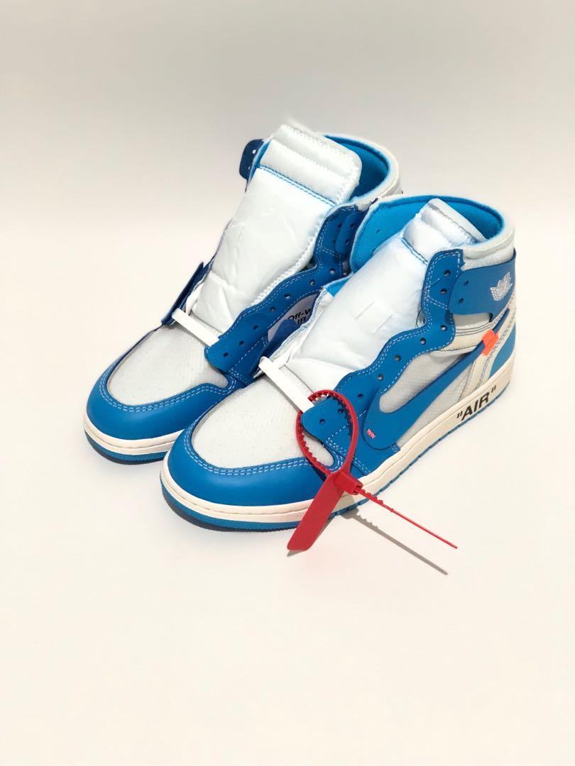 b8e29fc47ce WTS OFF WHITE x Nike Air Jordan 1 University Blue, Men's Fashion ...