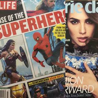 Life Superhero & Marie Claire Gal Gadot Magazines