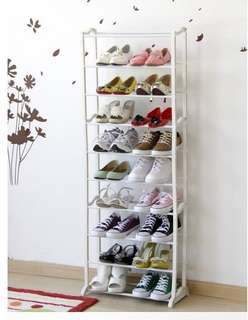 Rak Sepatu Ajaib Amazing Shoes rack 10 tingkat White